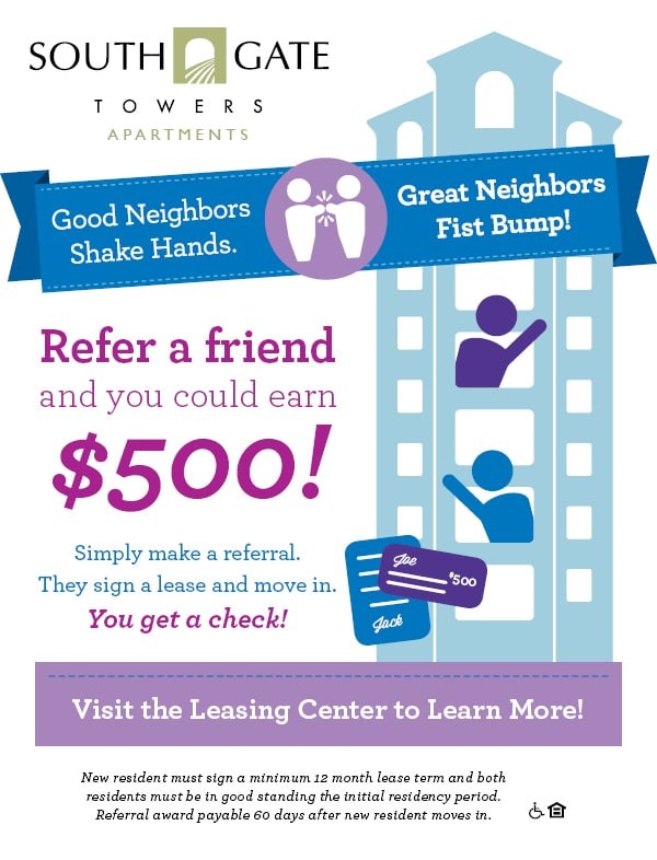 Refer A Friend to Southgate Towers - Southgate Towers Apartments ...